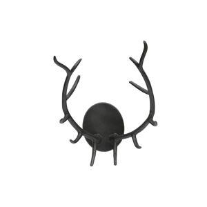 Černá nástěnná dekorace ve tvaru paroží BePureHome