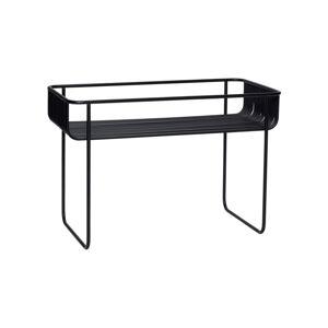 Černý železný příruční stolek Hübsch Hurto