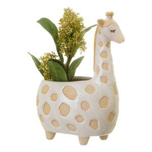 Bílo-béžový květináč Sass & Belle Gina Giraffe,ø7,5cm