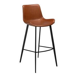 Hnědá barová židle z eko kůže DAN–FORM Denmark Hype, výška 103cm