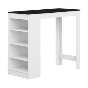 Bílý barový stůl s černou deskou TemaHome Aravis
