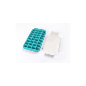 Tyrkysová silikonová forma na led Lékué Industrial, 32 kostek