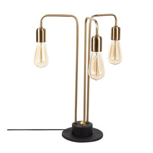 Kovová stolní lampa v antické zlaté barvě Opviqlights Mia