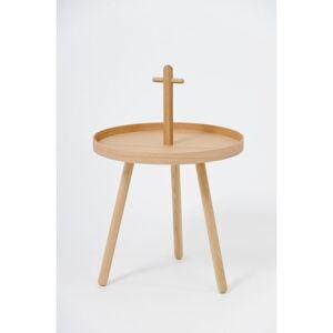 Odkládací stolek z dubového dřeva Wireworks Pick Me Up,ø45cm