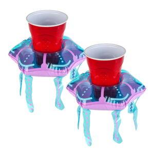 Sada 2 nafukovacích kruhů na nápoje ve tvaru medúz Big Mouth Inc.