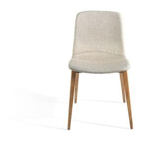 Šedá židle s dřevěnými nohami Ángel Cerdá Bona