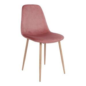 Sada 2 jídelních židlí s růžovým potahem ze sametu House Nordic Stockholm