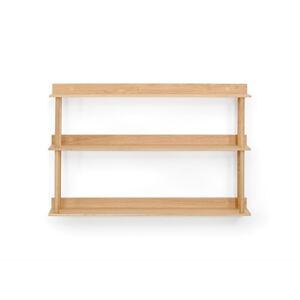 Nástěnný policový díl z dubového dřeva Wireworks Platform3