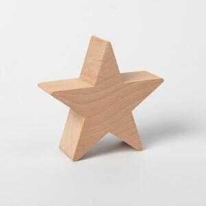 Dřevěná hvězda na dekorativní vánoční stromek Spira Large