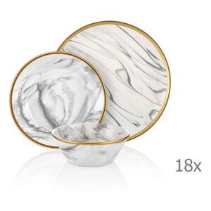 18dílný set porcelánového nádobí Mia Lucid Grey