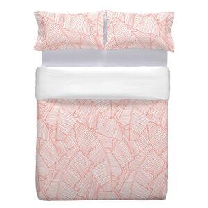 Růžový bavlněný povlak na polštář Marghett Coral, 80 x 80 cm