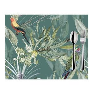 Sada 2 zelených prostírání Mike & Co. NEW YORK Jungle Birds,33x45cm