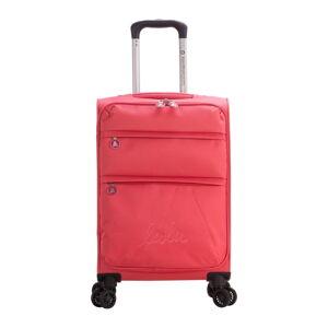 Růžové zavazadlo na 4 kolečkách Lulucastagnette Luciana, 101l