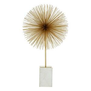 Soška ve zlato-bílé barvě s mramorovým podstavcem Premier Housewares Mirano Starburst