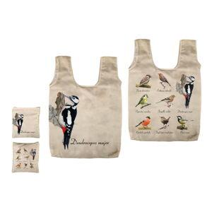 Skládací taška s potiskem ptáčků Esschert Design Fly