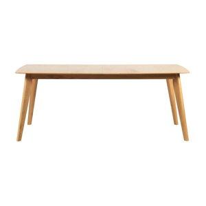 Rozkládací jídelní stůl s nohami z dubového dřeva Rowico Frey, 190 x 90cm