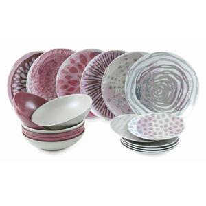 18dílná sada talířů z porcelánu a kameniny Villa d'Este Aurora