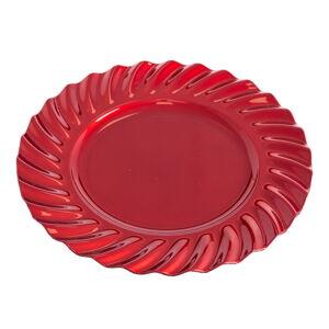 Červený kulatý servírovací tác Unimasa