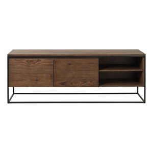 TV stolek s detaily v dubovém dekoru Unique Furniture Rivoli
