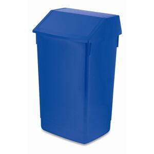Modrý odpadkový koš s vyklápěcím víkem Addis, 41 x 33,5 x 68 cm