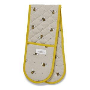 Béžovo-žlutá bavlněná dvojitá chňapka Cooksmart ® Bumble Bees