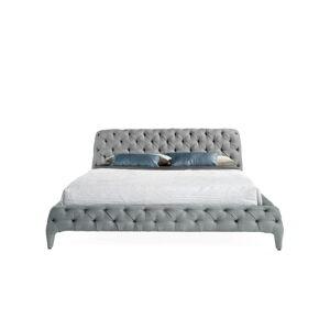 Šedá dvoulůžková postel Ángel Cerdá Base, 180 x 200 cm