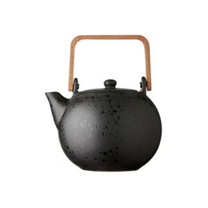 Černá kameninová konvička na čaj Bitz Basics, 1,2 l