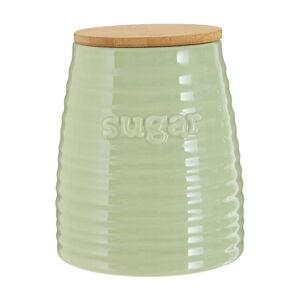 Světle zelená dóza s bambusovým víkem na cukr Premier Housewares Winnie, 950 ml