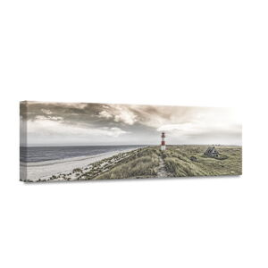 Obraz Styler Canvas By The Sea Beacon View, 45 x 140 cm
