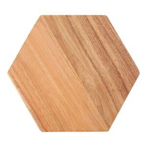 Krájecí prkénko z akáciového dřeva Premier Housewares Hexagon, 24 x 28 cm