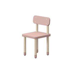 Růžová dětská židle Flexa Dots