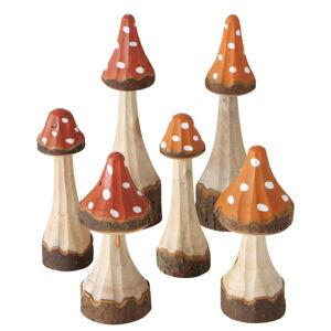 Sada 6 dekorací z borovicového dřeva Boltze Tenia