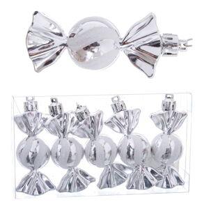 Sada 5 vánočních ozdob s detaily ve stříbrné barvě Unimasa Caramel