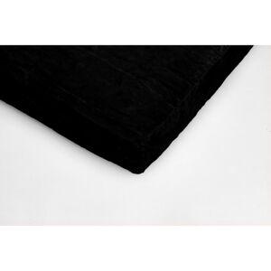 Černé mikroplyšové prostěradlo My House, 180 x 200 cm