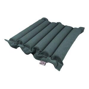 Šedomodrý sedací polštářek s masážními míčky Linda Vrňáková Waves, 50x50cm