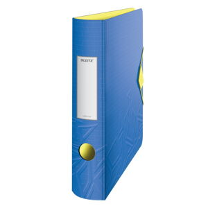 Modrý mobilní pořadač Leitz, šířka 65 mm