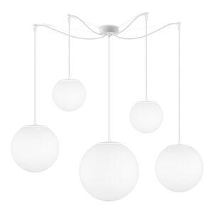 Matně bílé pětiramenné závěsné svítidlo Sotto Luce Tsuki
