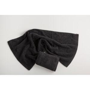 Tmavě šedý bavlněný ručník El Delfin Lisa Coral, 30 x 50 cm