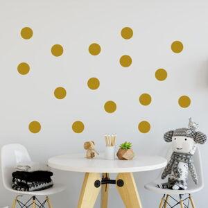 Sada žlutých samolepek na zeď North Carolina Scandinavian Home Decors Dot