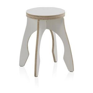 Bílá dětská stolička z překližky Geese Piper, ⌀ 41 cm