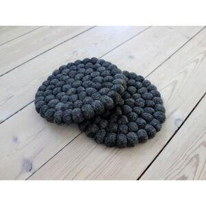 Antracitový kuličkový podtácek z vlny Wooldot Ball Coaster, ⌀ 20 cm
