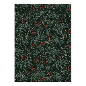 Zelený balící papír eleanor stuart No. 7 Winter Floral