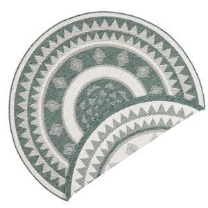 Zeleno-krémový venkovní koberec Bougari Jamaica, ⌀ 200 cm