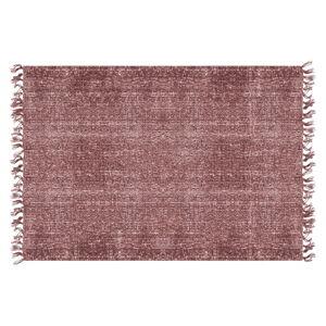 Červený bavlněný koberec PT LIVING Washed, 140 x 200 cm