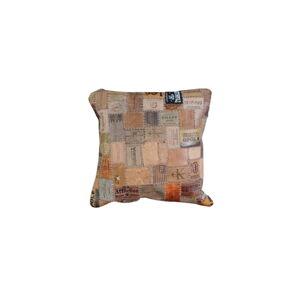 Hnědý kožený polštář Fuhrhome New Orleans, 45x45cm