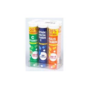 Sada šumivých vitamínů v 6 tubách Maxi Vita, 20 ks/tuba