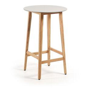 Balkónový stolek z eukalyptového dřeva La Forma Giorgia, ⌀ 70 cm