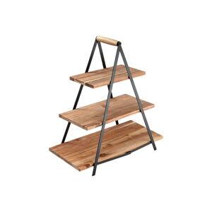Třípatrový stojan na dezerty z akáciového dřeva Ladelle Serve & Share