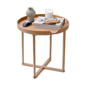 Odkládací stolek z dubového dřeva s odnímatelnou deskou Wireworks Damieh, 45x45 cm