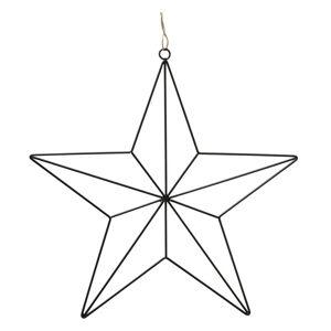 Černá železná vánoční dekorace ve tvaru hvězdy Boltze, délka 38 cm